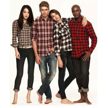 tela hilado y tela escocesa teñida hilado de alta calidad, tela de camisa teñida hilado, franela teñida hilado de algodón