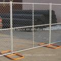 6ft Kettenglied-Bau-Zaun täfelt die Basis heiß-eingetauchtes galvanisierendes Querverstrebungen vorübergehendes fechtendes populäres für USA