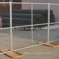 6ft Chain Link Construction Fence Panels Base Hot-Dipped Galvanizing Cross Bracing Temporary Fencing Popular For USA