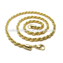 Fashion High Quality Metal Gold Rope Necklace Chains