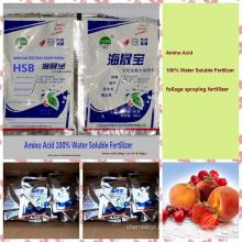 Water Soluble liquid organic foliar fertilizer with 100% Amino Acid