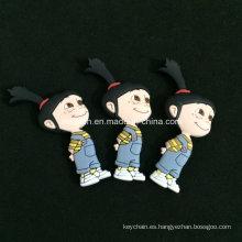 Imán de encargo del PVC 3D de la figura de la historieta para los regalos de recuerdo