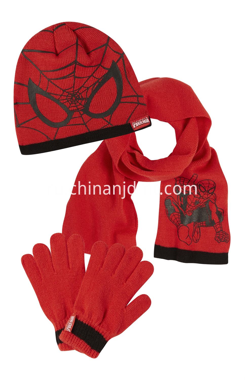 Spiderman Hat And Scarf Set