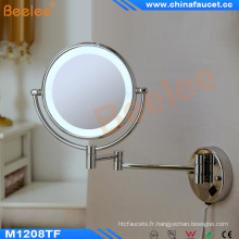 Miroir de rasage fixé au mur de salle de bains d'hôtel LED avec du CE approuvé