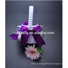 Hochzeits-Blumen-Mädchen-Speicher-Korb China-Herstellung Weinlese-Blumen-Mädchen-Korb