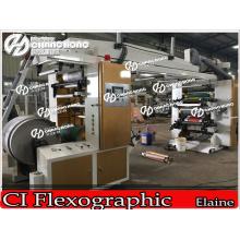8 цветов Завальцовки PVC печатная машина/ПВХ рулонных печатных машин/ПВХ машина flexo