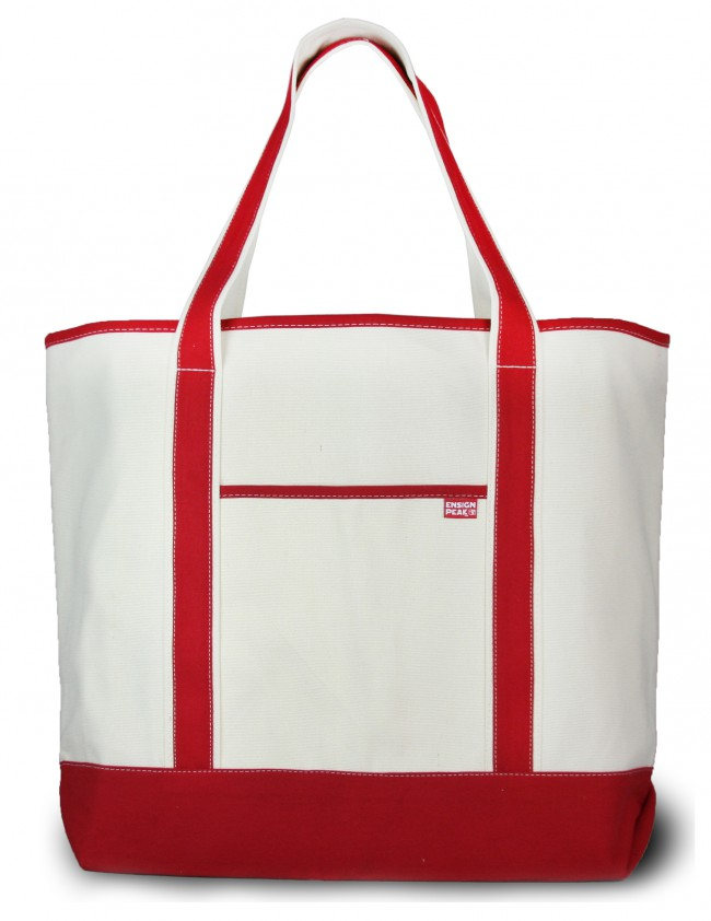 large natural open top canvas bag