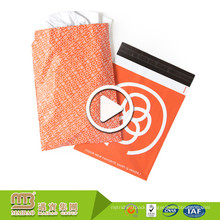 Waterproof Strong Self Adhesive T-Shirt Packaging Custom Logo Orange Printed Poly Mailers Full Color