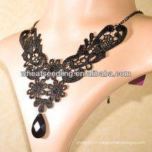 Collier en dentelle 2013 avec perles en résine collier à main LS41
