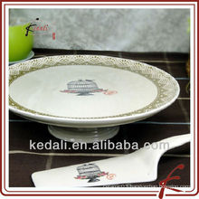 Hot Style Popular Ceramic Cake Plate Fruit Plate
