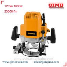 Madeira trabalhando roteador elétrico 12 milímetros 1600w 23000r / m qimo ferramentas eléctricas