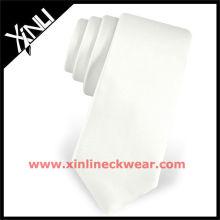 2013 nouveau gros cravates en soie maigre cravate blanche