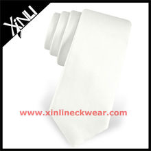 2013 new wholesale silk ties skinny white tie