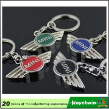 Factory OEM Custom Metal Car Logo Mini Cooper Key Chain