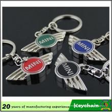 Corrente chave do tanoeiro feito sob encomenda do logotipo do carro de metal do OEM da fábrica mini