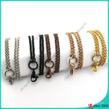 Venta al por mayor de acero inoxidable Rolo cadena collar (fn16041802)