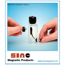 Garrafa magnética da exposição do Ferrofluid da forma