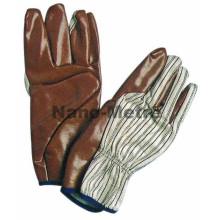 NMSAFETY guantes de esgrima de seguridad de guantelete de tejido impregnado de nitrilo de china