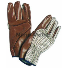 NMSAFETY china nitrile impregnated fabric gauntlet style safety fencing gloves
