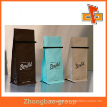 excellent printing Bottom Gusset tin tie coffee bag