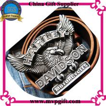 Bespoke metal fivela de cinto com o cliente 3D Logo