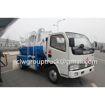 Dongfeng 5CBM Kitchen Swill / Garbage Suction Truck