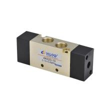 Serie 4V400 Válvula de aire / Válvula solenoide neumática de aleación de aluminio y de cinco direcciones de dos posiciones