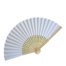 White Paper Wedding Fan Stock Market Personalized