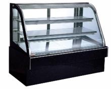 ビュッフェ式のステンレス製冷蔵ショーケース