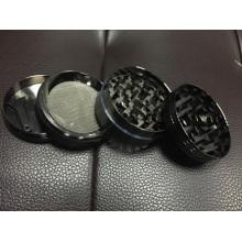 Enjoylife Zink Metallschleifer Tabakschleifer 50mm 4 Teile schwarz und silber