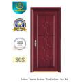 Vereinfachte chinesische Art MDF-Tür für Innenraum mit festem Holz (xcl-029)