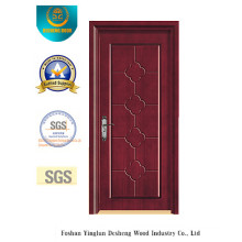 Simplified Chinese Style MDF Door for Interior with Solid Wood (xcl-029)