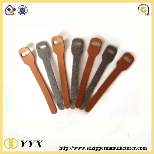 elegant leather zipper puller