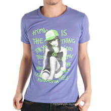 Diseño de Girl's Printing Fashion 100% Cotton Custom Men Tshirt