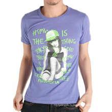 Дизайн девочка печать мода 100% хлопок на заказ мужчины футболки