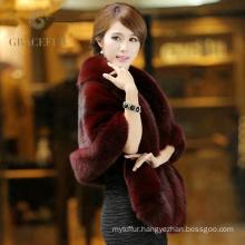 Quality assurance mink fur trim pashmina shawl