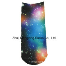 Paper Printing Lady Fashion Socks Star Pattern