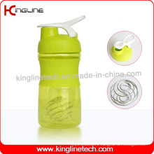 500ml Plastic Protein Shaker Bottle with Stainless Blender mixer Ball (KL-7064)