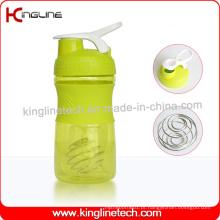 Garrafa protetora de proteína de 500ml com mistura misturadora de misturador inoxidável (KL-7064)