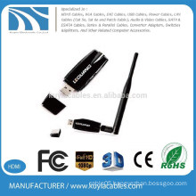New design high power 300Mbps 802.11n usb wireless lan card 5dbi