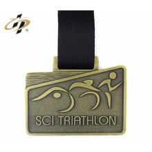 medallas de inserción en blanco al por mayor de alta calidad de metal personalizado