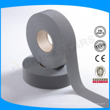 100% polyester backing couleur grise haute lumière tissu réfléchissant