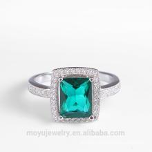 Luxury rhinestone square rings elegant style diamond ring for women