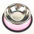 cor revestida tigelas de alimentador de cão de aço inoxidável para alimentos e água
