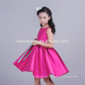 High Quality Rose Red Color Sleeveless Custom Clothing New Model Girl Dress