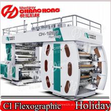 Máquina de impressão dobro de Flexo Winder Flexo / máquina de impressão Flexographic de seis películas plásticas da cor
