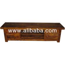 Cabinet de télévision en bois de Sheesham