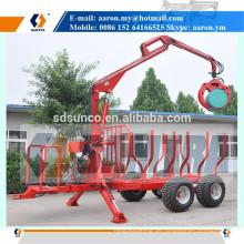 3 Tonnen Forstanhänger mit hydraulischem Ladekran