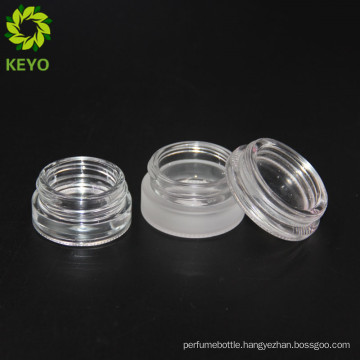 Airtight white cosmetic frosted glass jar for lip balm