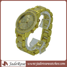 Gold Color Linked Plastic Fashion Wrist Watches